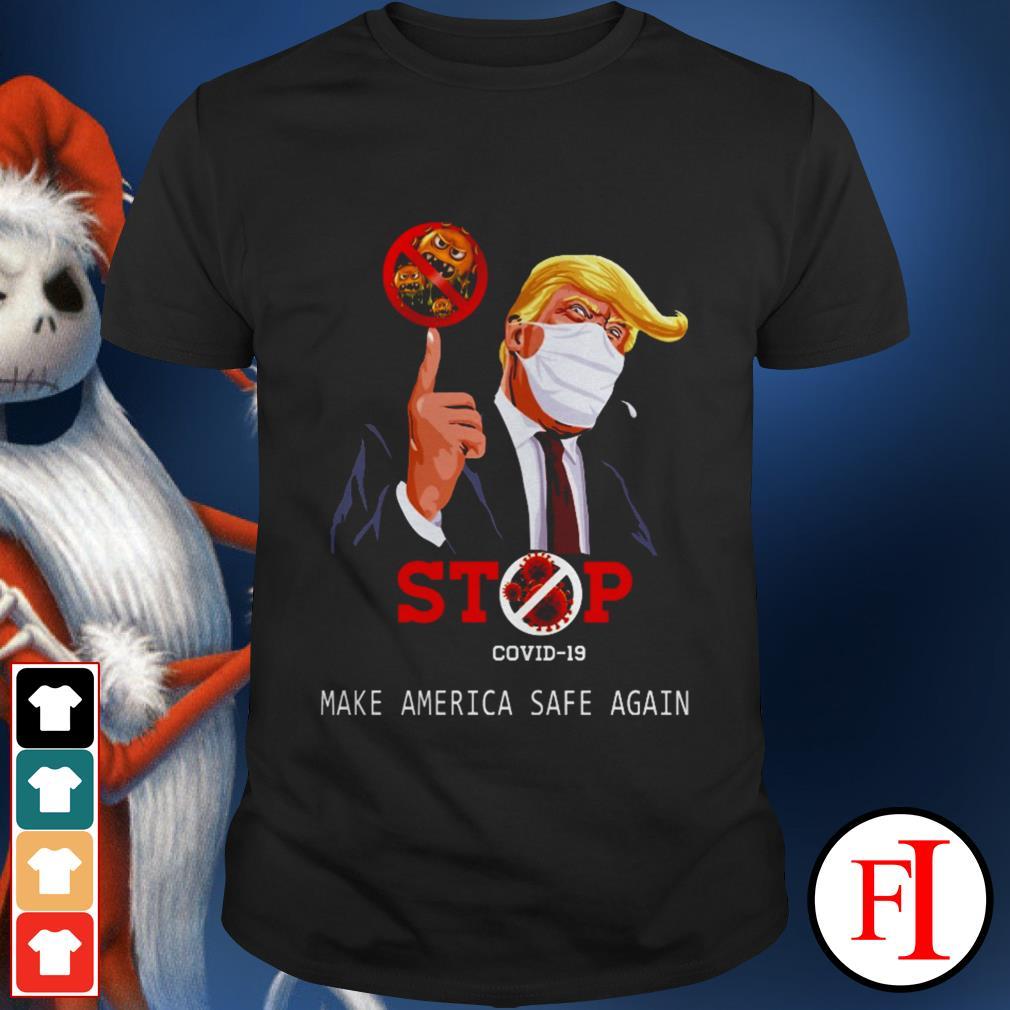 Best Donald Trump stop COVID-19 make America safe again shirt