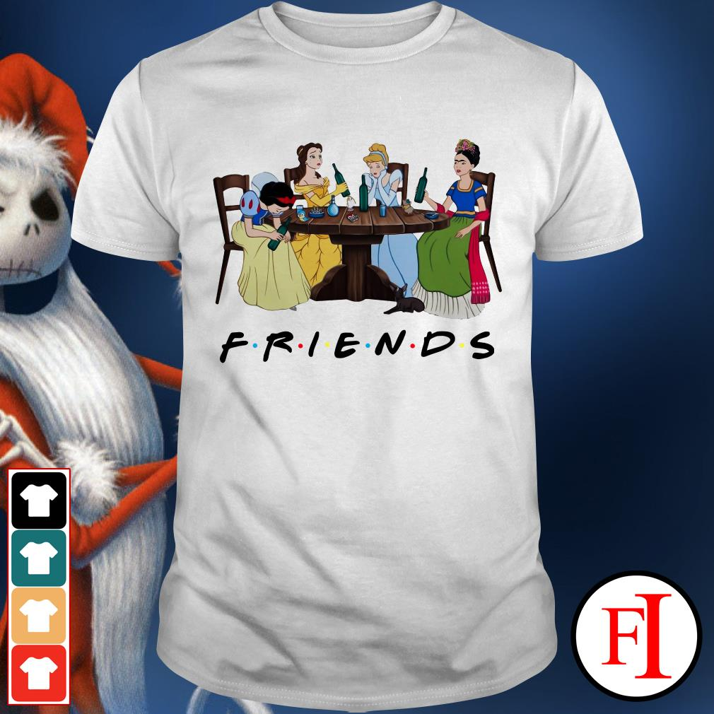 Friends TV show Frida Kahlo and Disney princesses drinking shirt