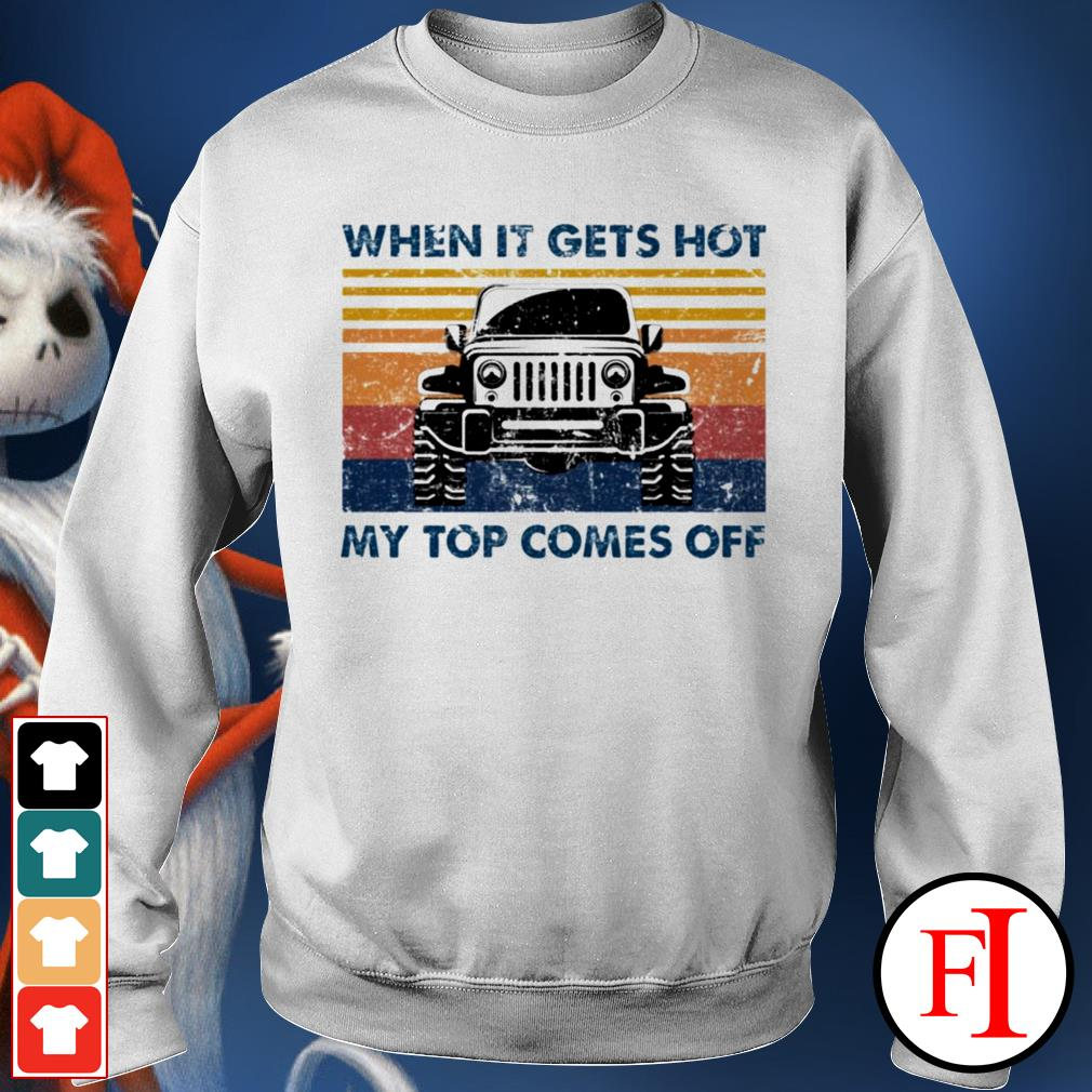 Jeeps when it gets hot my top comes off black vintege Sweater