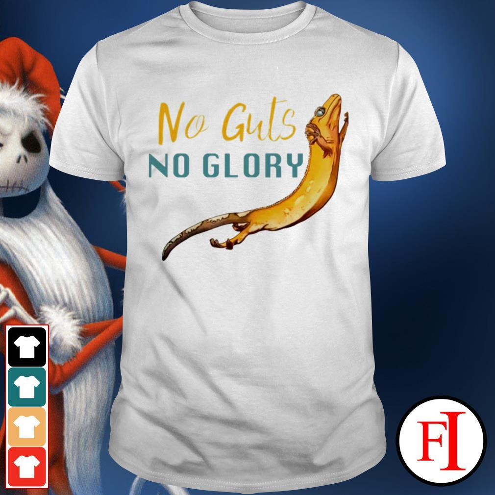 Lizard no guts no glory best black shirt