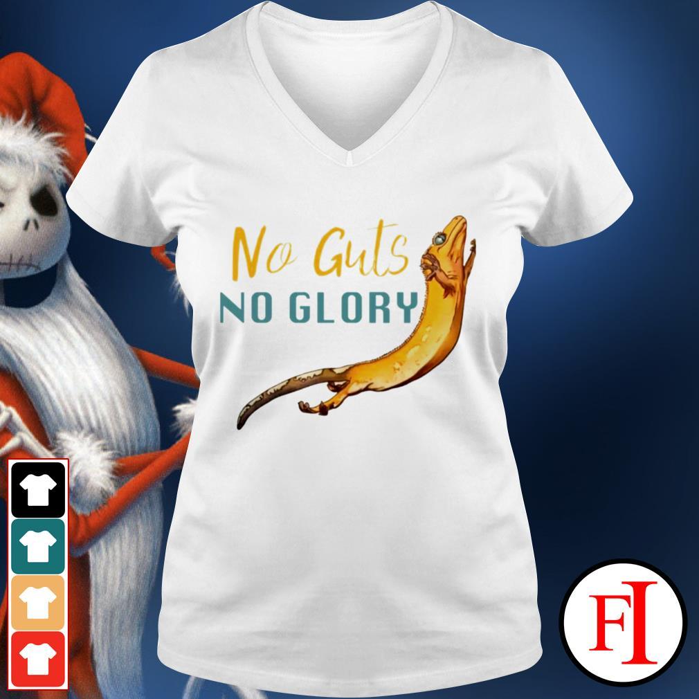 Lizard no guts no glory best black V-neck t-shirt
