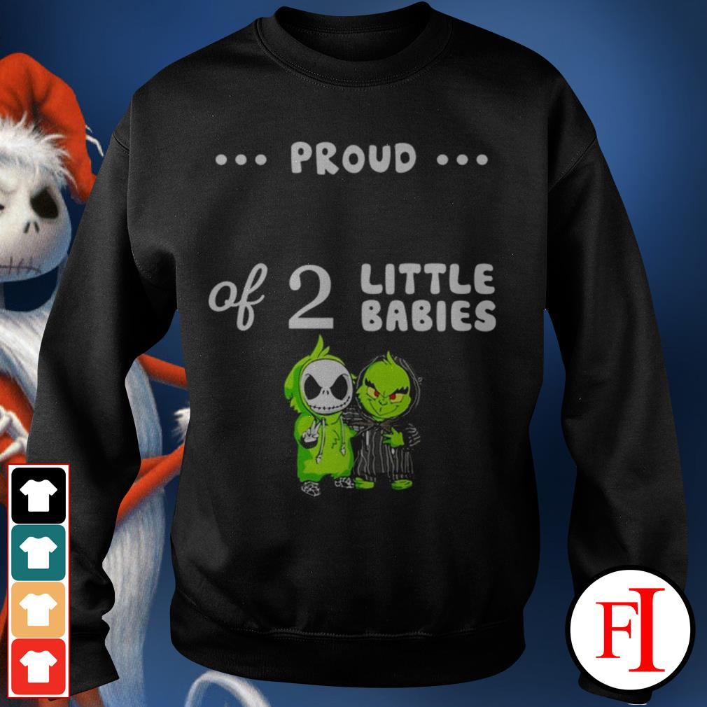 Love Baby Skellington and Baby Grinch proud of 2 little babies Sweater