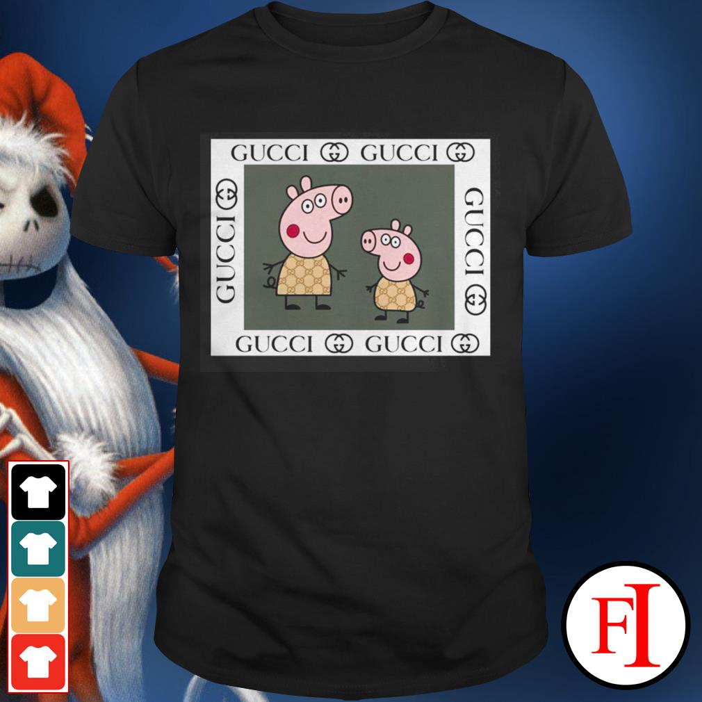 Love Peppa pig Gucci black shirt