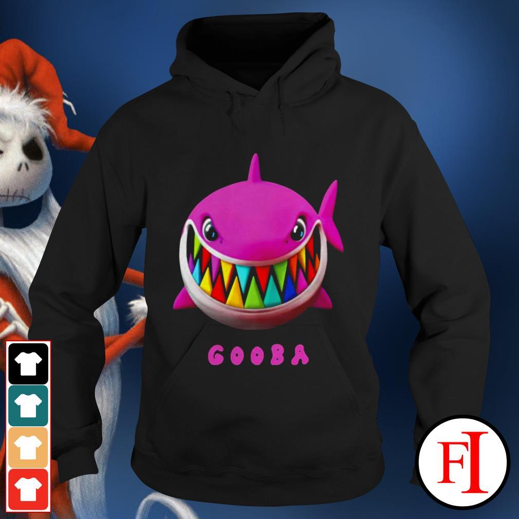 Love white Gooba Shark Hoodie
