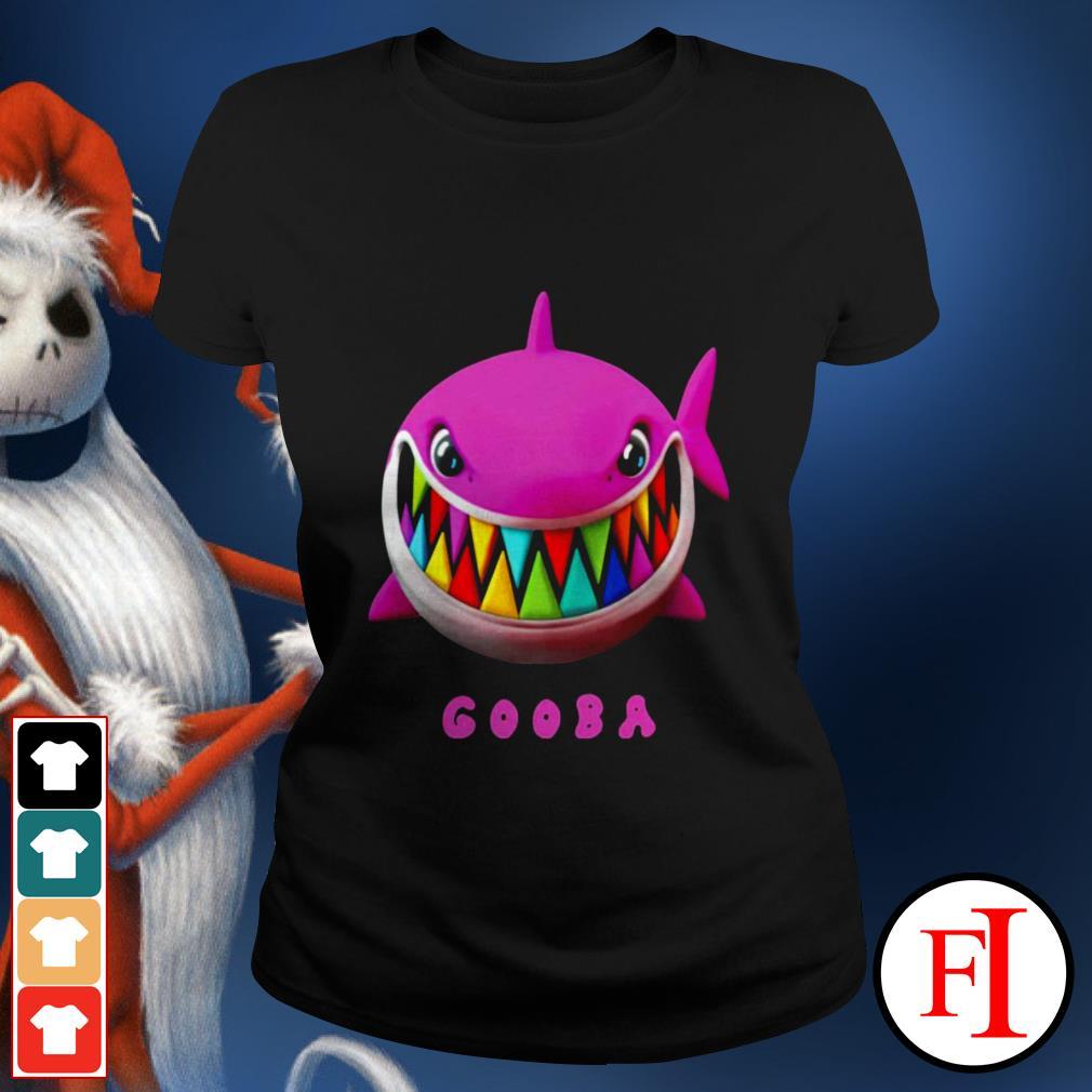 Love white Gooba Shark Ladies tee