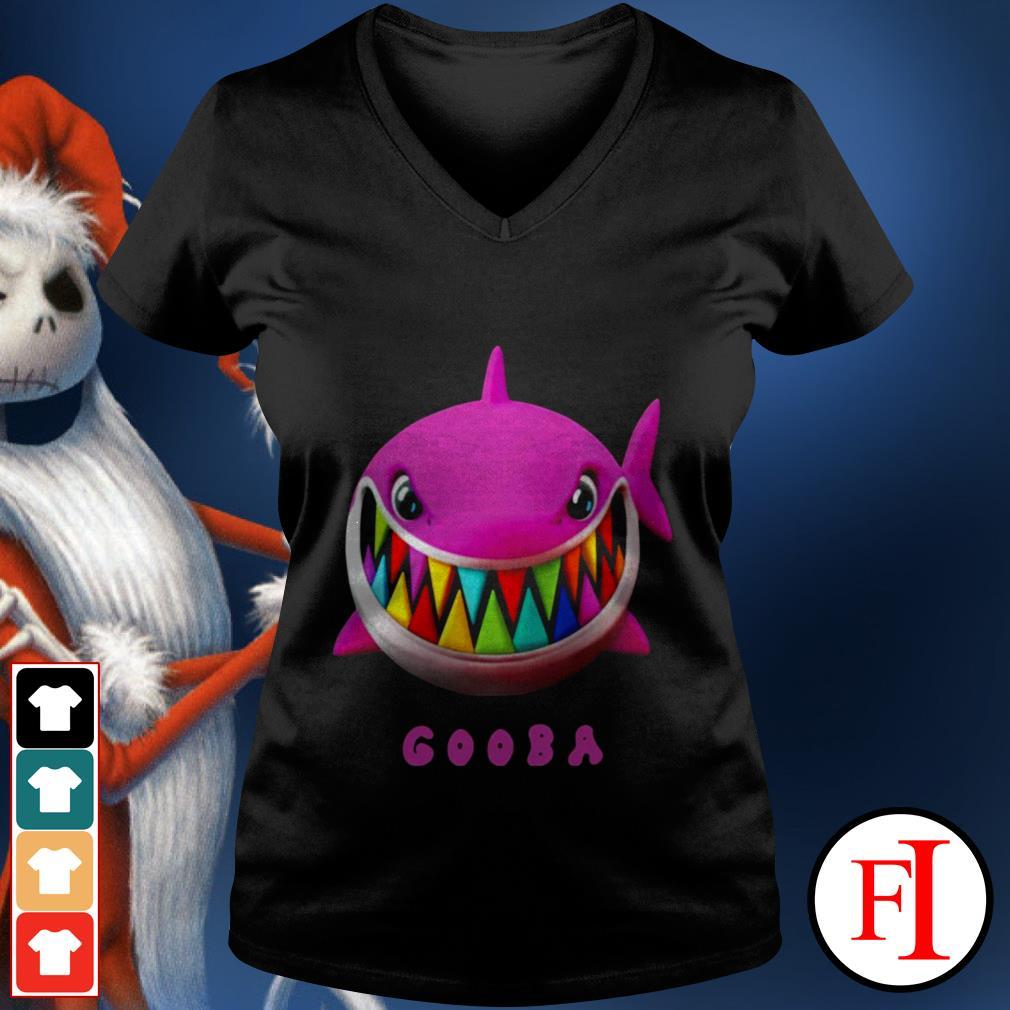 Love white Gooba Shark V-neck t-shirt