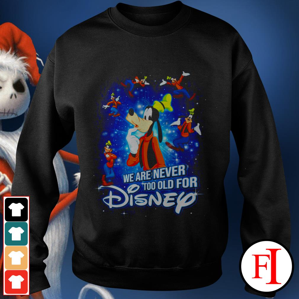 We are never too old for Disney Goofy Sweater