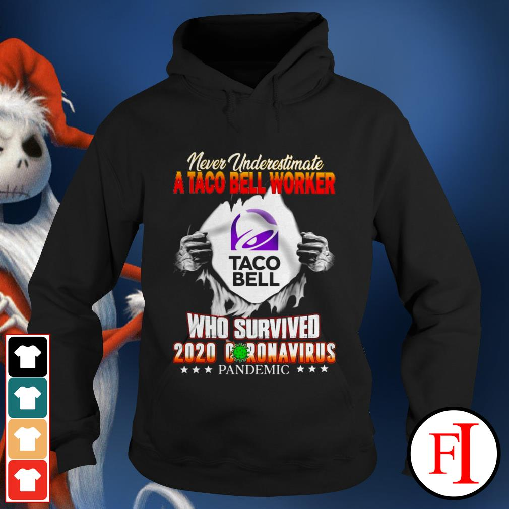 Never underestimate a taco bell worker who survived 2020 Coronavirus pandemic black Hoodie