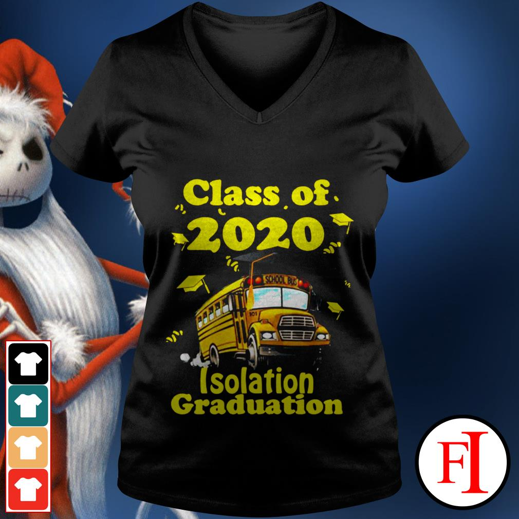 Official Class of 2020 isolation graduation V-neck t-shirt