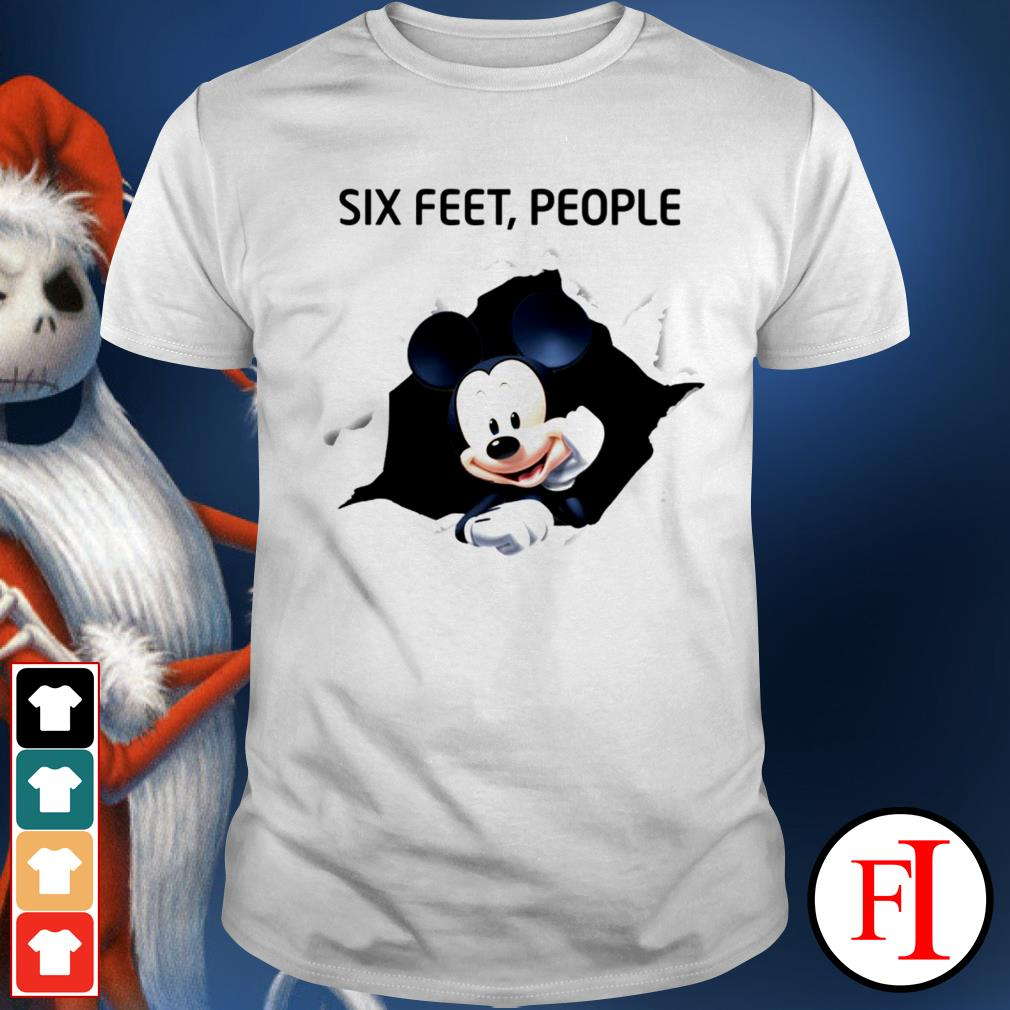 Official Mickey six feet people shirt