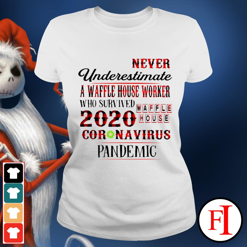Official Never underestimate a dunkin' worker who survived 2020 Waffle House coronavirus pandemic Hoodie