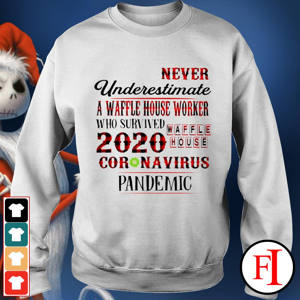 Official Never underestimate a dunkin' worker who survived 2020 Waffle House coronavirus pandemic Sweater