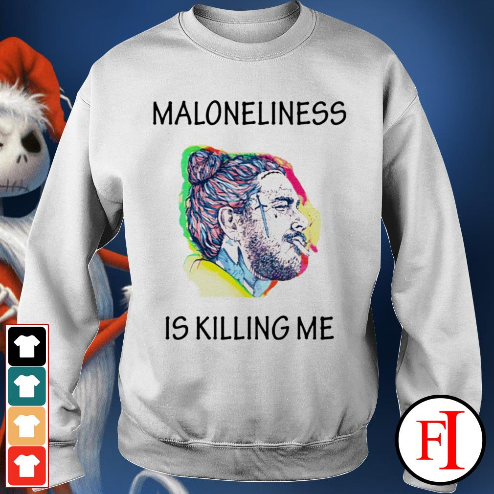 Official white Maloneliness is killing me Sweater