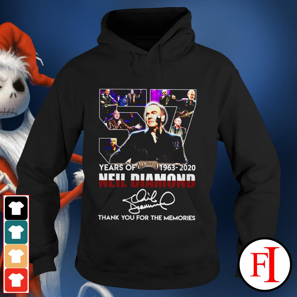 Thank you for the memories 57 Years of Neil Diamond 1963-2020 signatures Hoodie