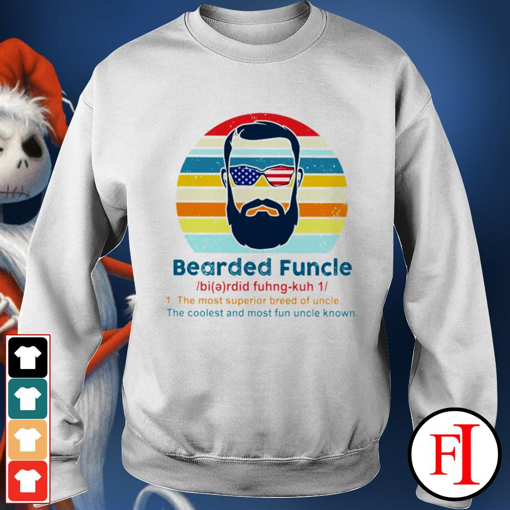 Vintage Bearded Funcle the most superior breed of uncle the coolest and most fun uncle known black Sweater
