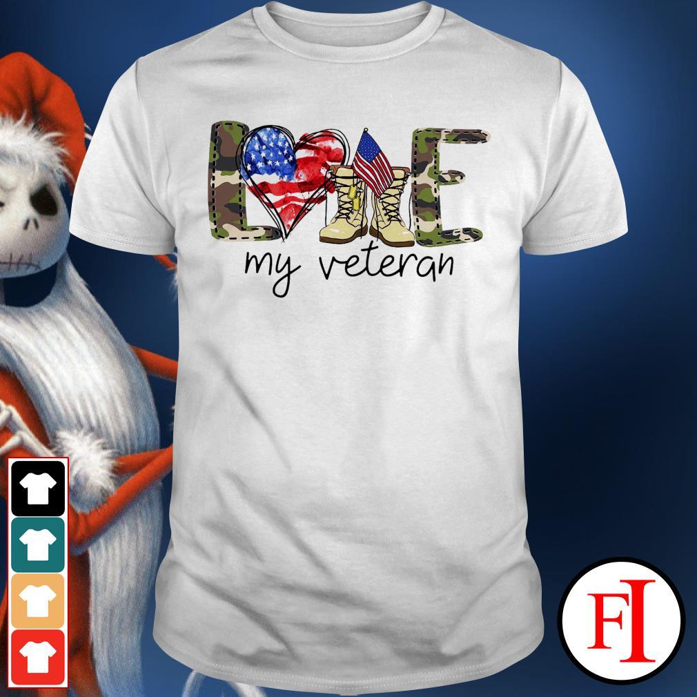 4th of July love my veteran best white shirt