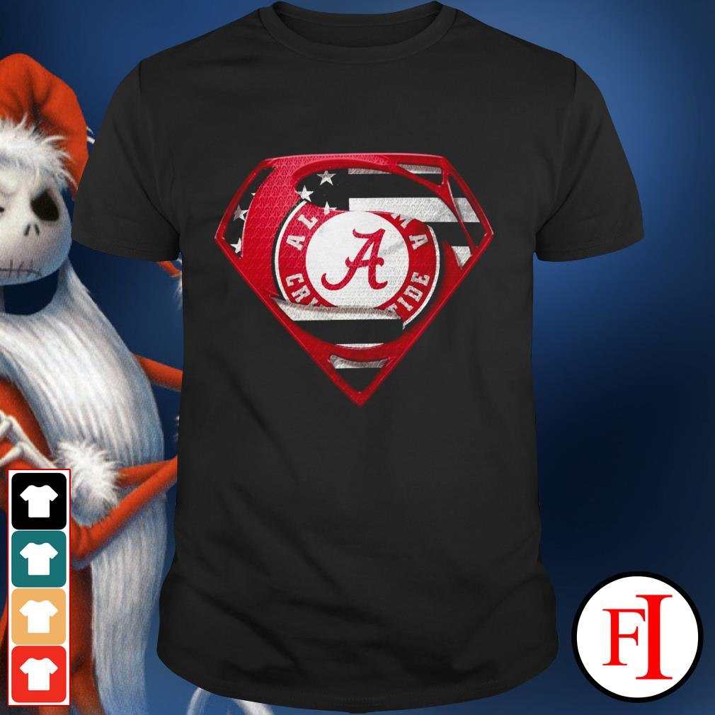 Alabama Crimson Tide superman best black shirt
