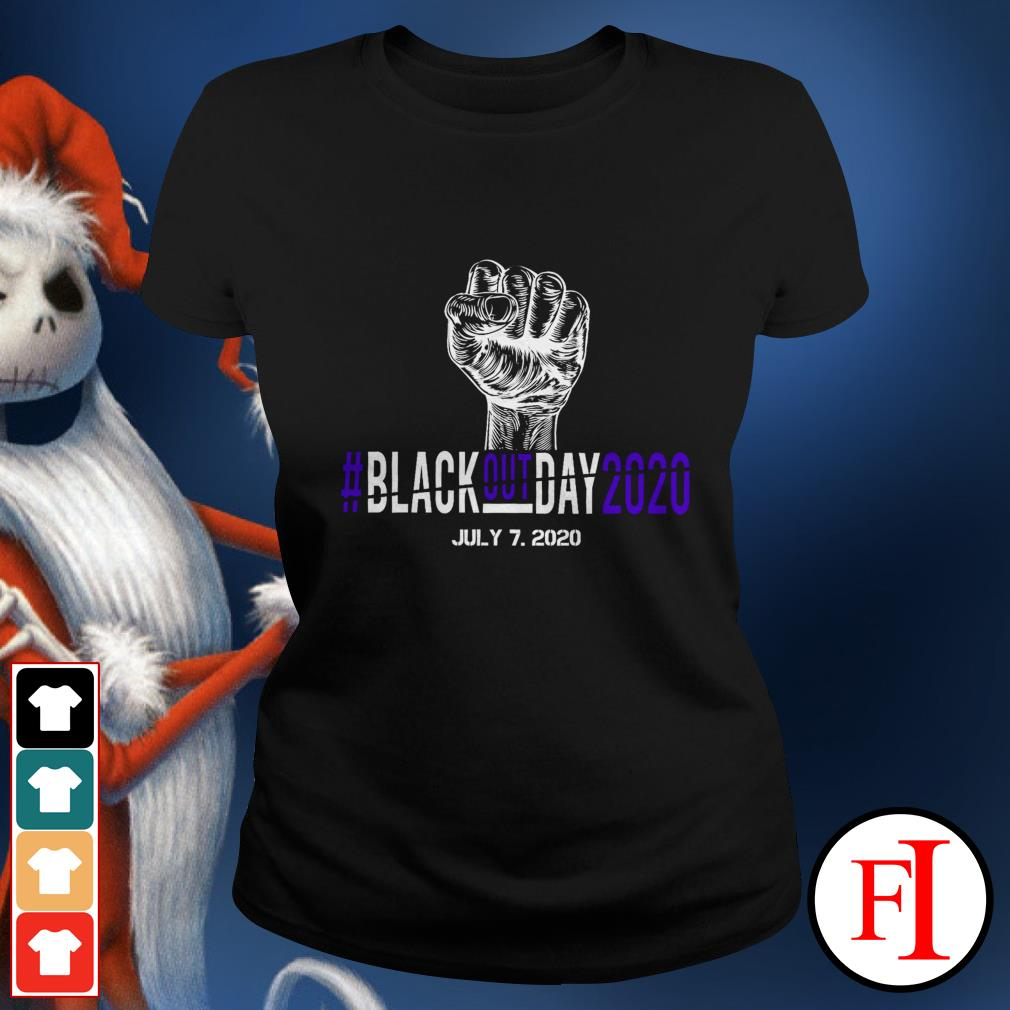 BlackoutDay2020 #Blackout day 2020 July 7th 2020 black Ladies tee