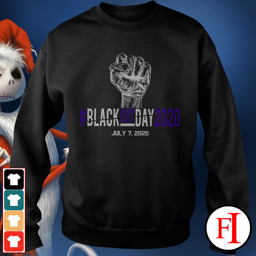 BlackoutDay2020 #Blackout day 2020 July 7th 2020 black Sweater