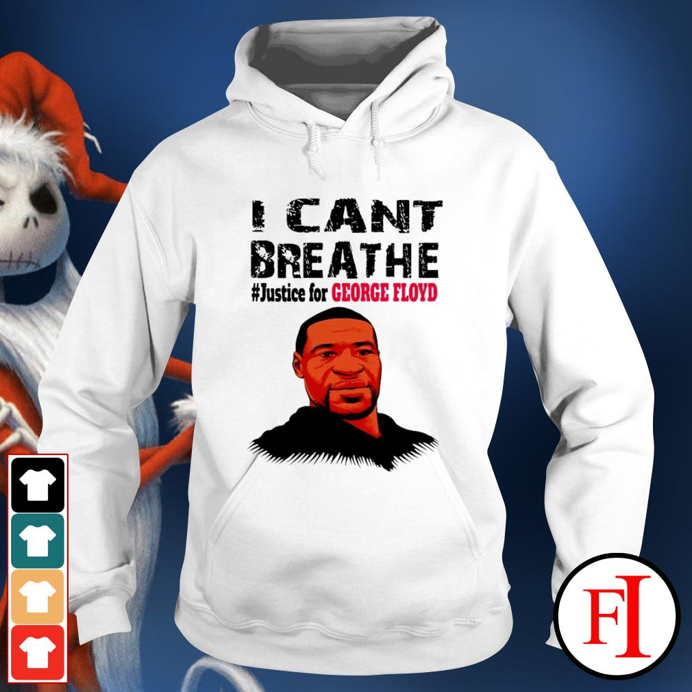 I can't breathe #justice for George Floyd best white Hoodie
