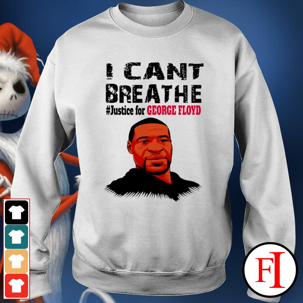 I can't breathe #justice for George Floyd best white Sweater