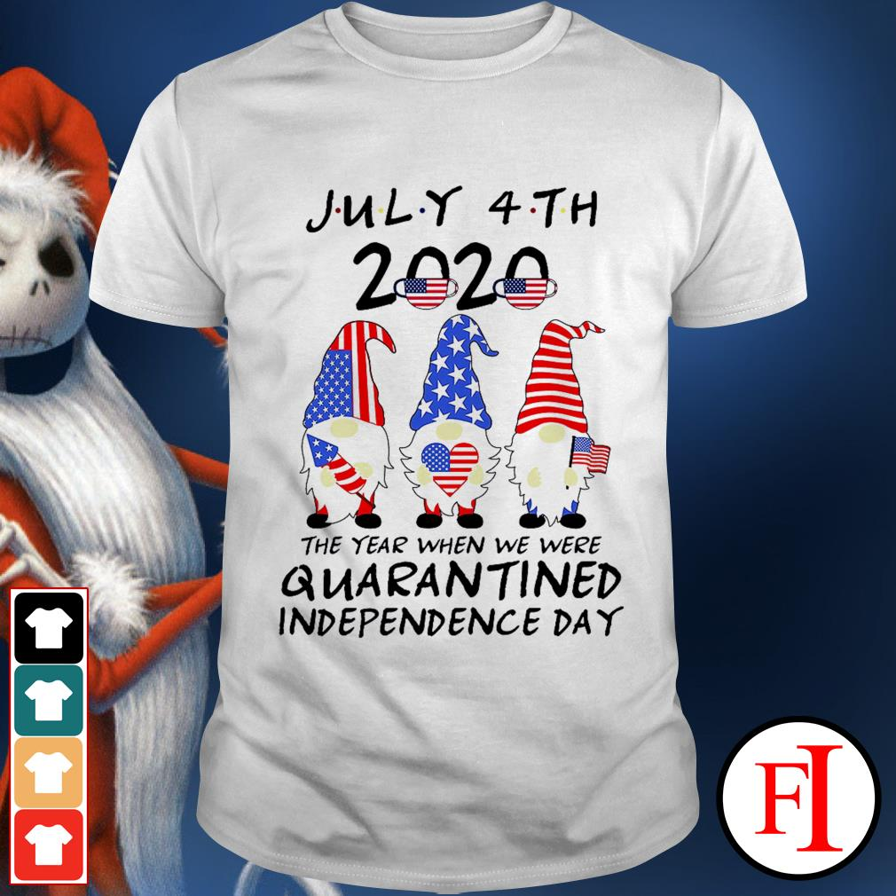 Gnomes july 4th 2020 the year when we were quarantined independence day white shirt