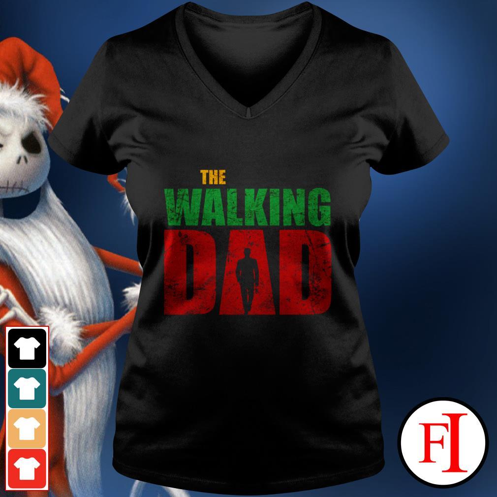 Love The walking dad black V-neck t-shirt