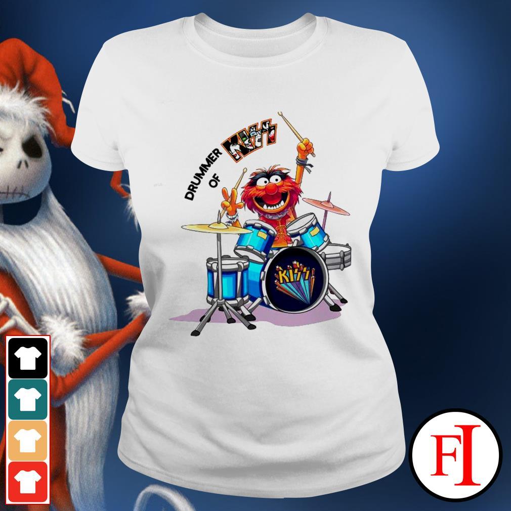 Muppet Drummer of Kiss best white Ladies tee