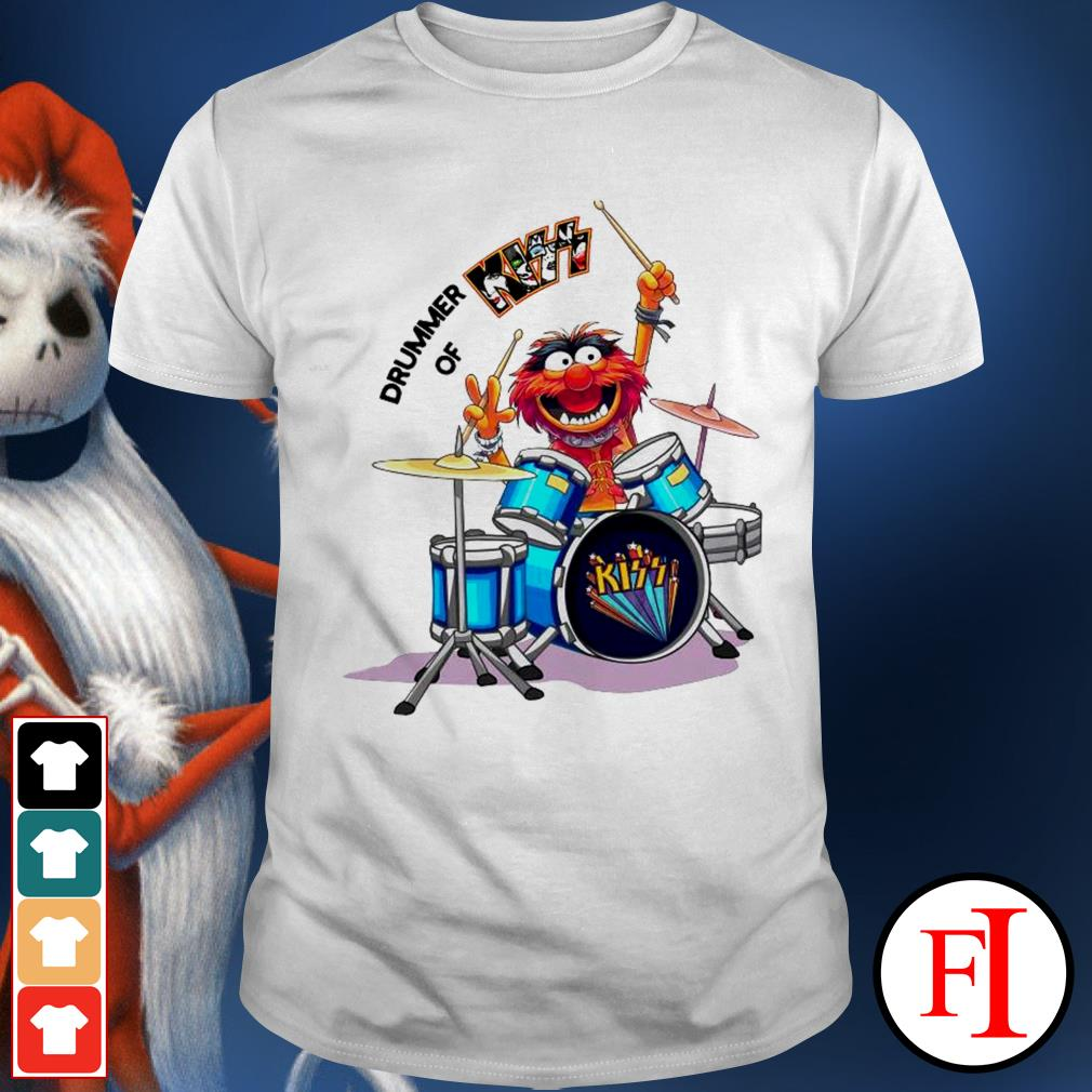 Muppet Drummer of Kiss best white shirt