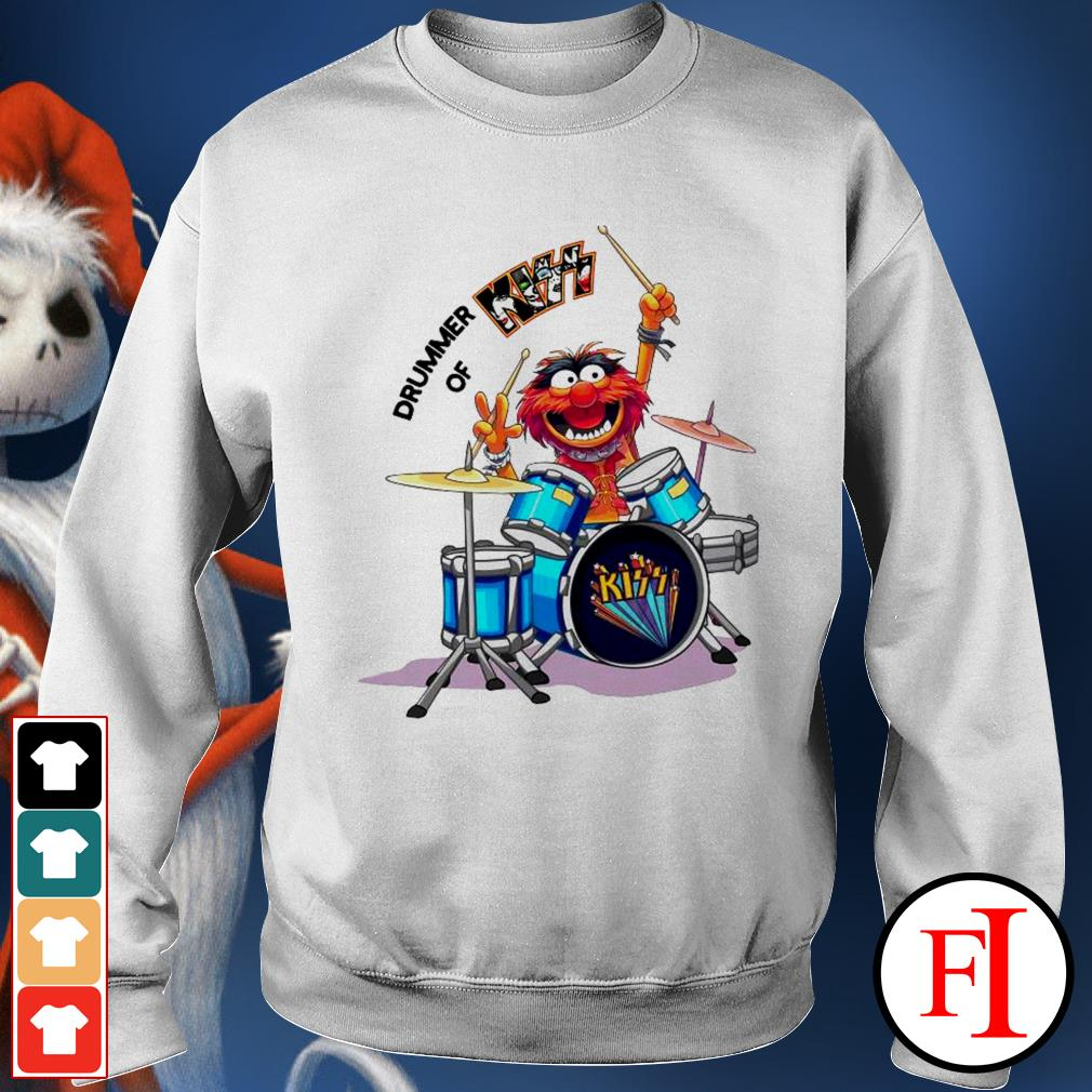 Muppet Drummer of Kiss best white Sweater