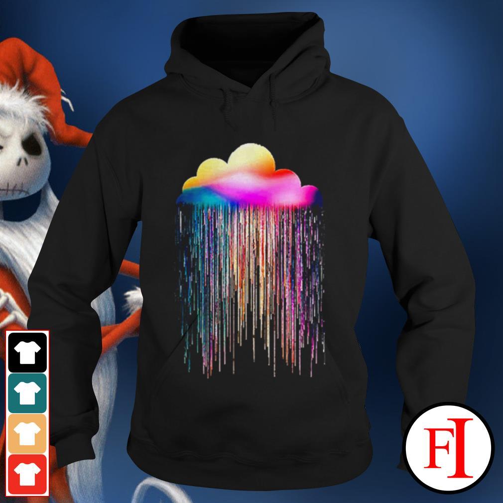 Rainbow rain black Hoodie