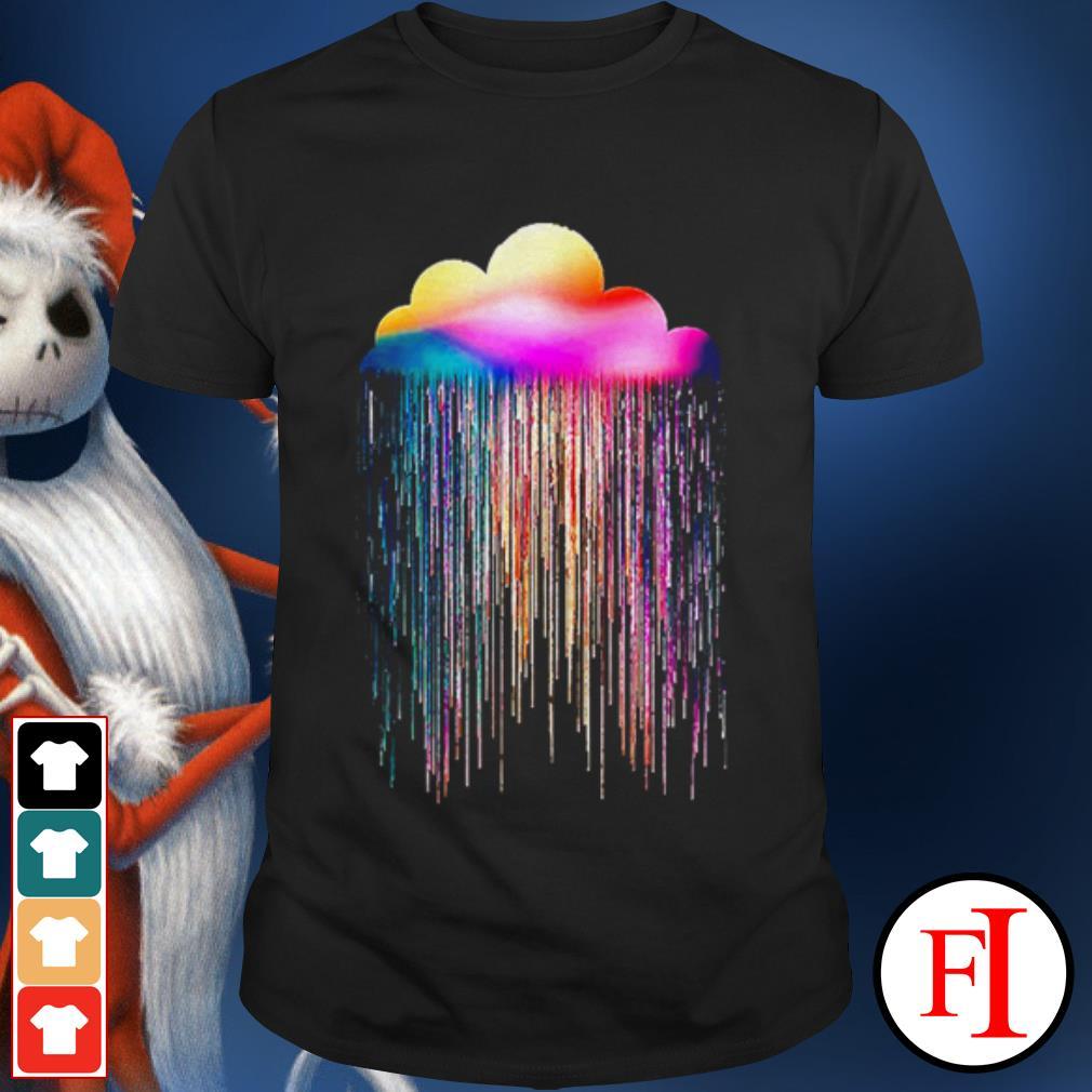 Rainbow rain black shirt