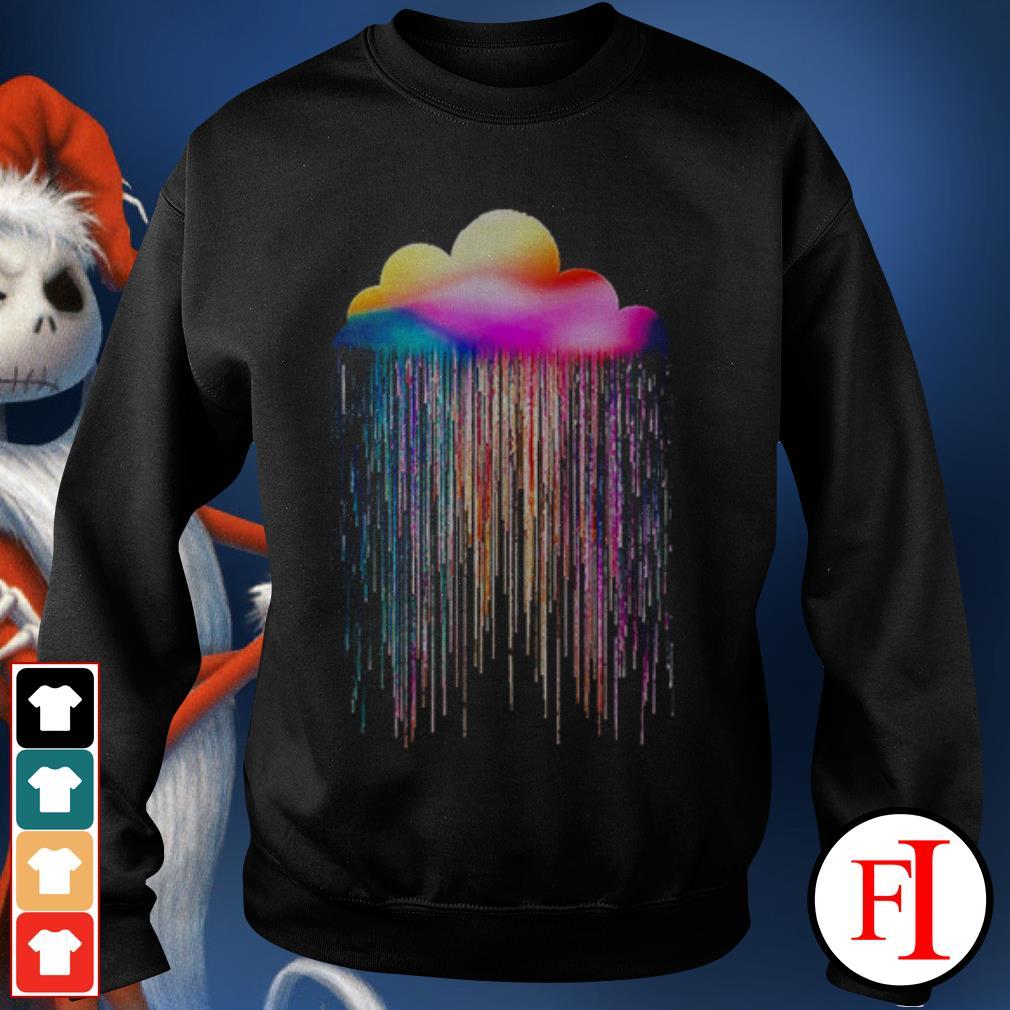 Rainbow rain black Sweater