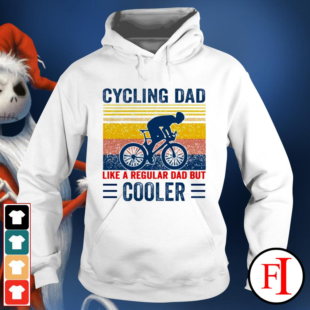 Vintage Cycling dad like a regular dad but cooler white Hoodie