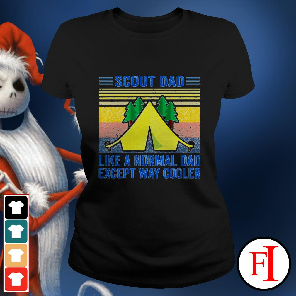 Vintage Scout dad like a normal dad except way cooler best white Ladies tee