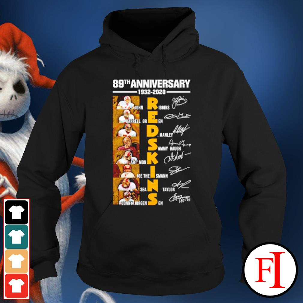 89th anniversary Redskins John Riggins Darrell Green signatures s hoodie