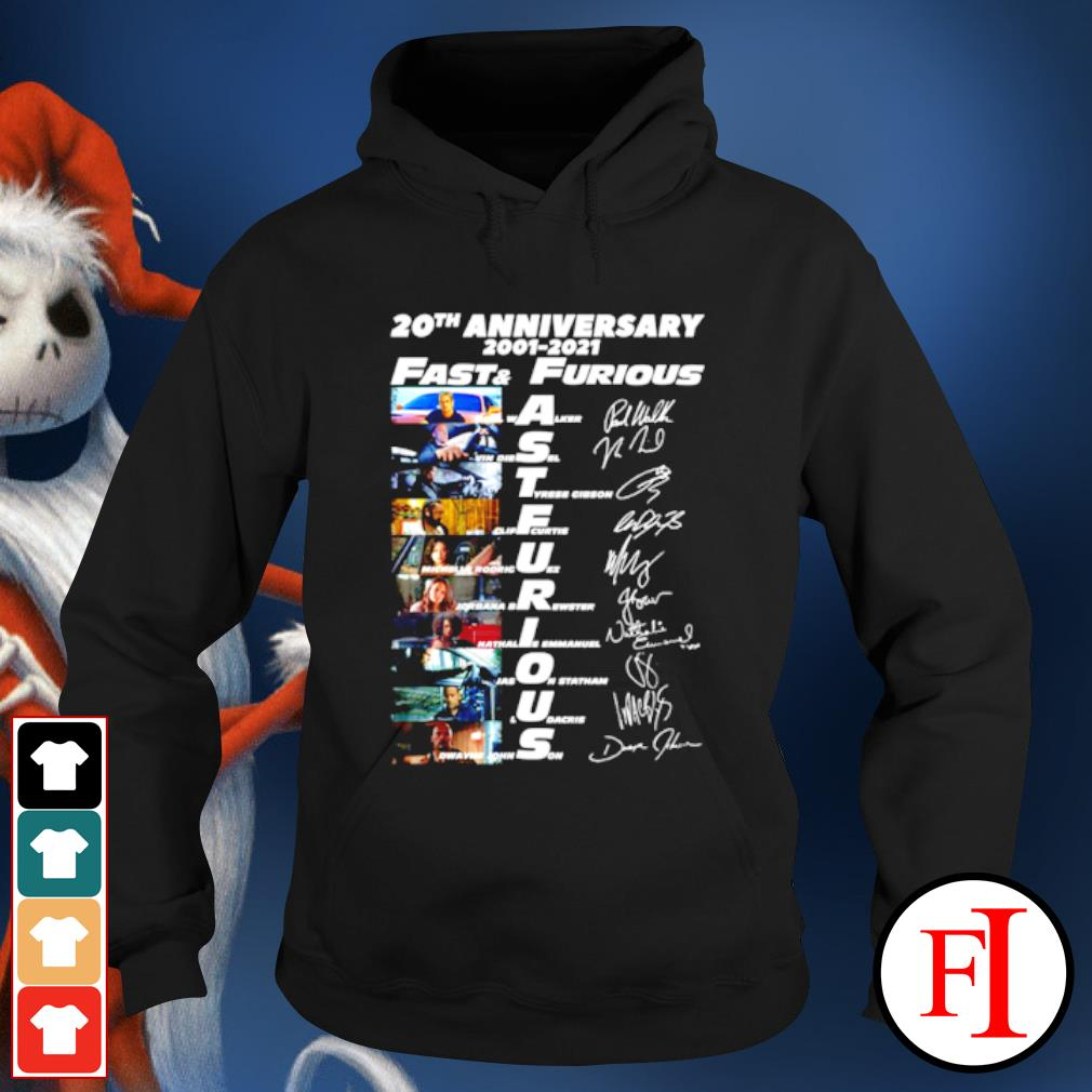 20th anniversary 2001-2021 Fast and Furious signatures s hoodie