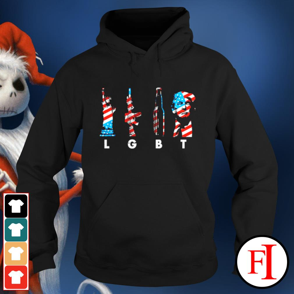 4th of July LGBT Liberty guns beer and Trump s hoodie