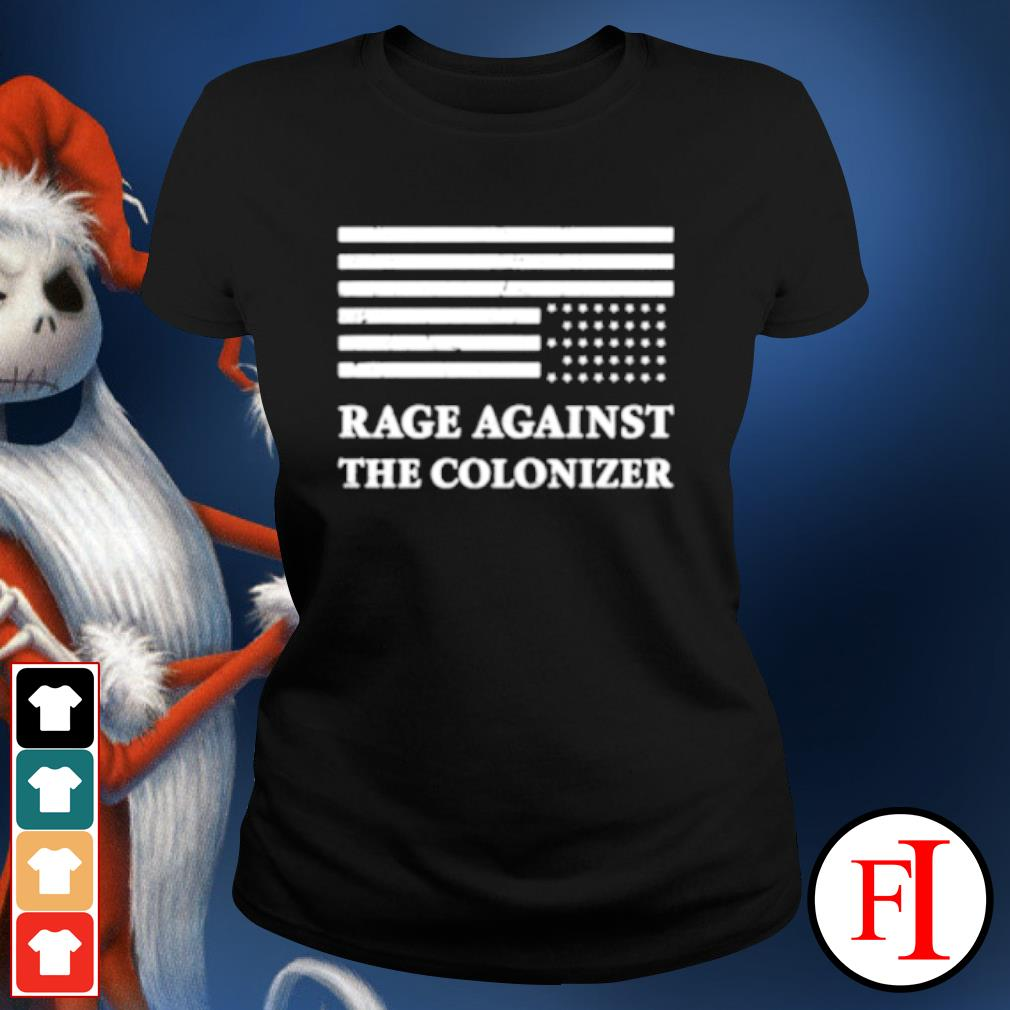 America rage against the colonizer s ladies-tee