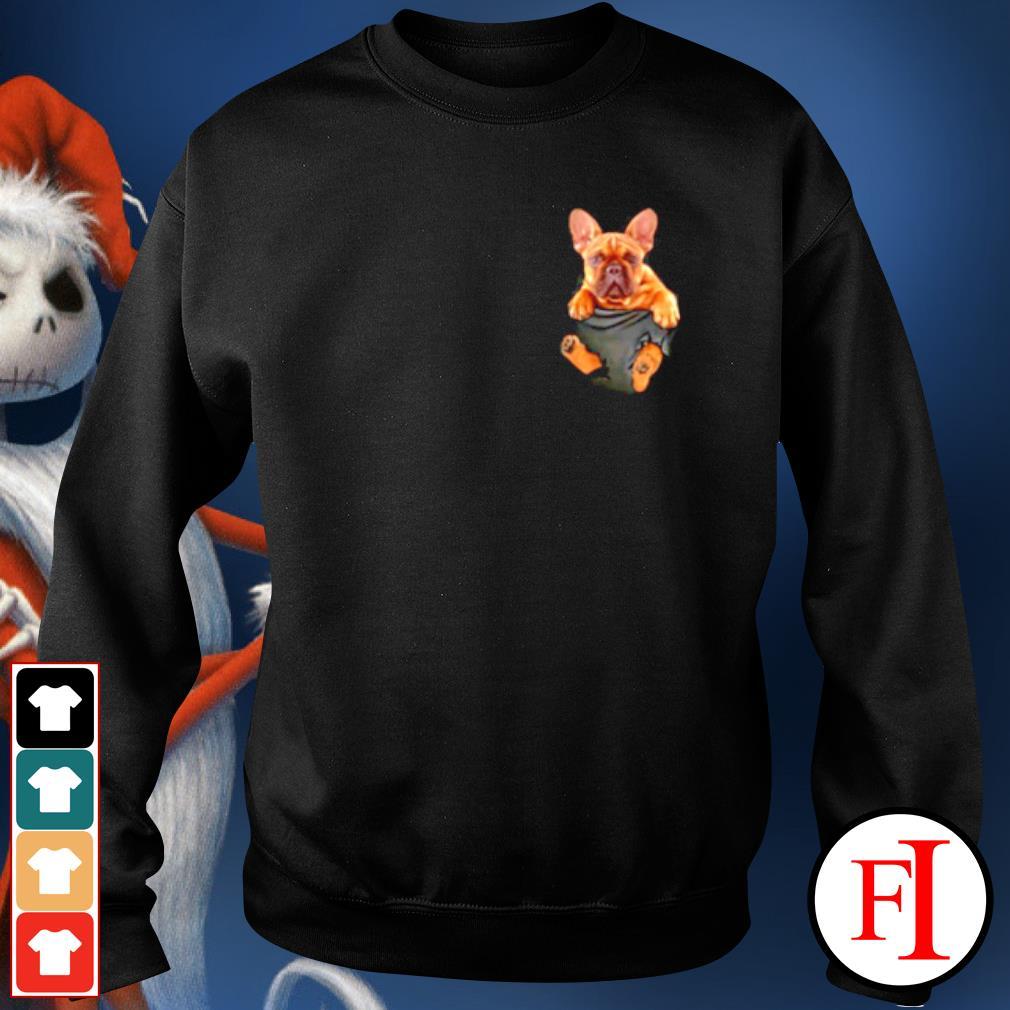 French Bulldog in Pocket s sweater