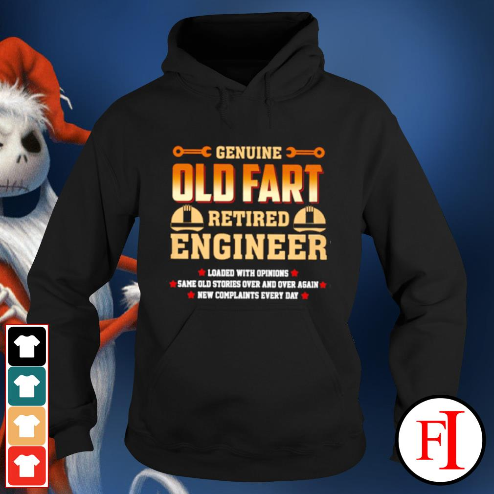 Genuine old fart retired lineman loaded with opinions s hoodie