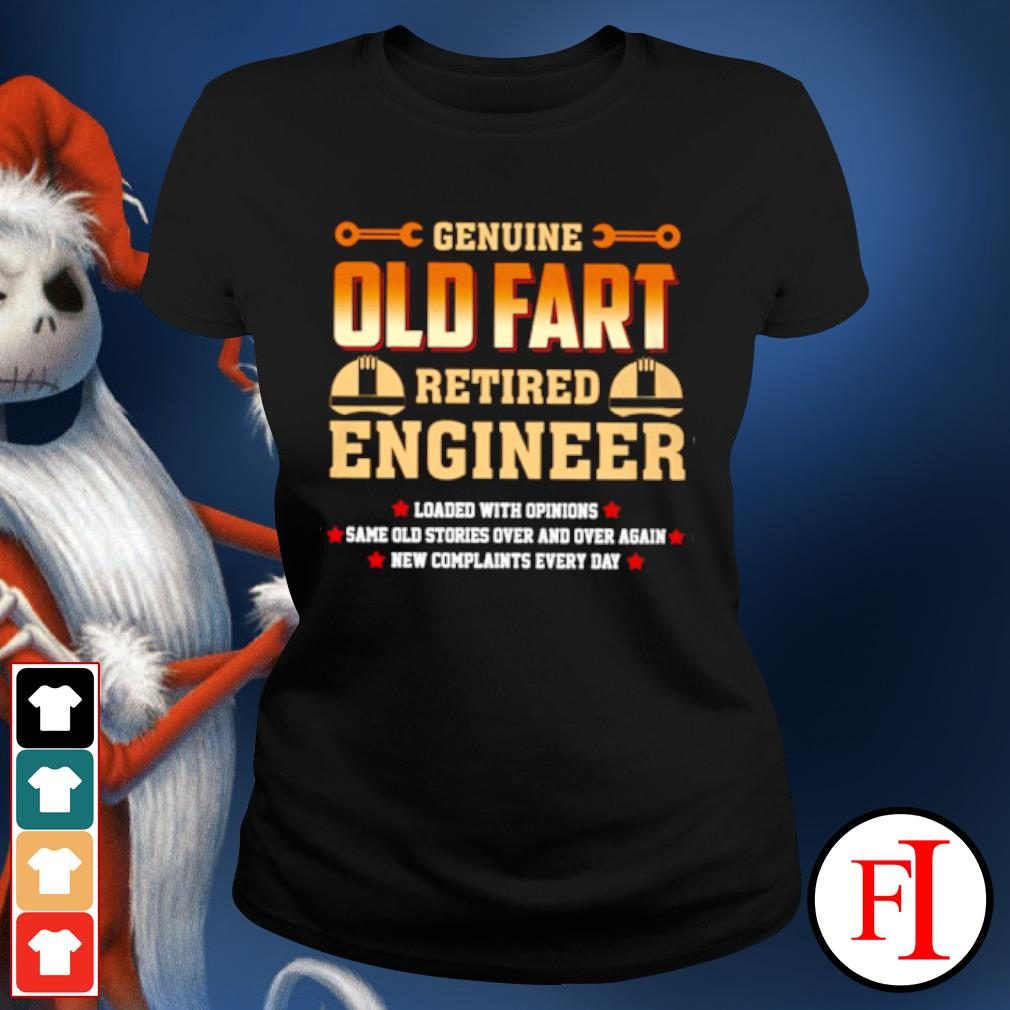 Genuine old fart retired lineman loaded with opinions s ladies-tee