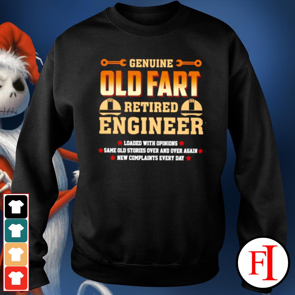 Genuine old fart retired lineman loaded with opinions s sweater