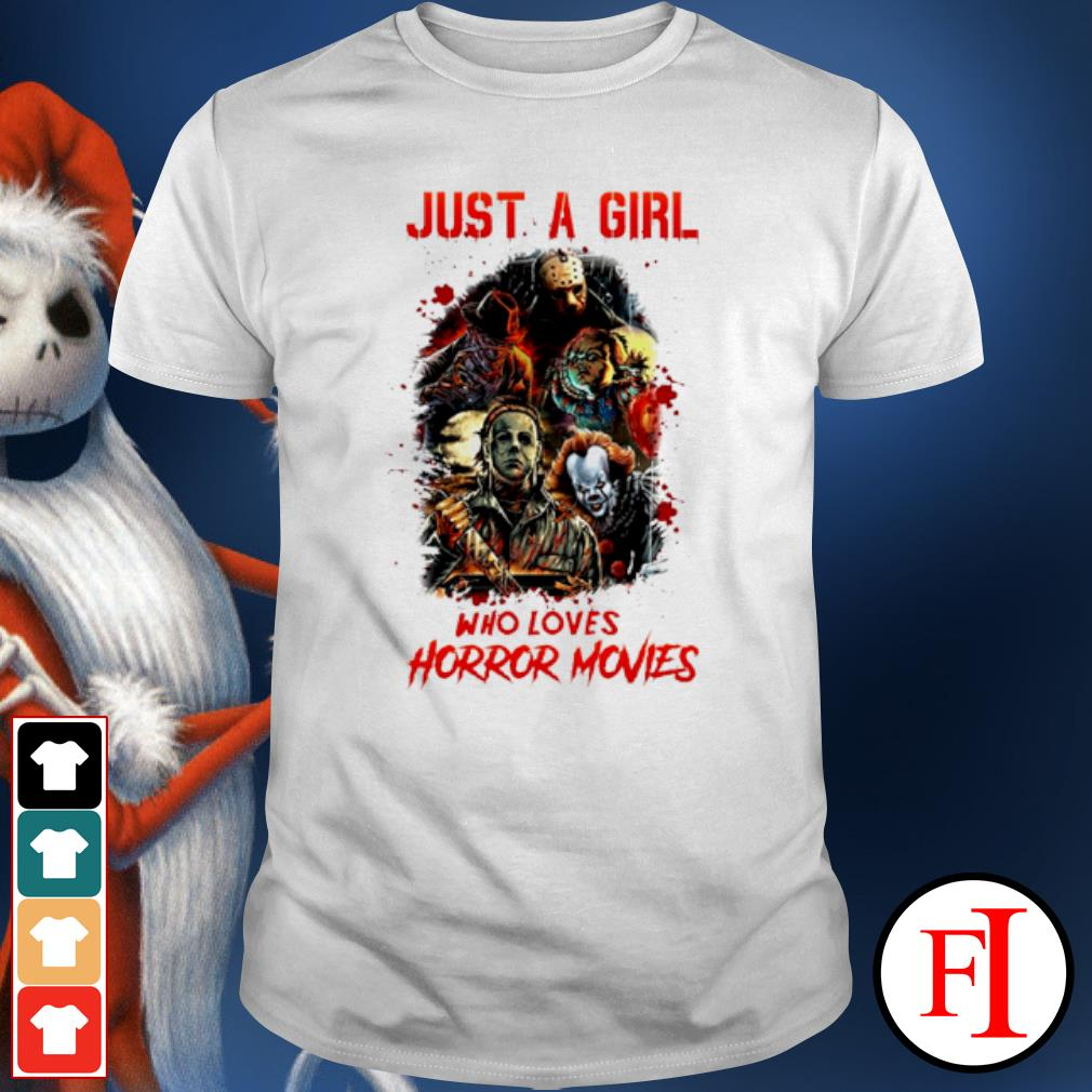 Halloween just a girl who loves horror movies shirt