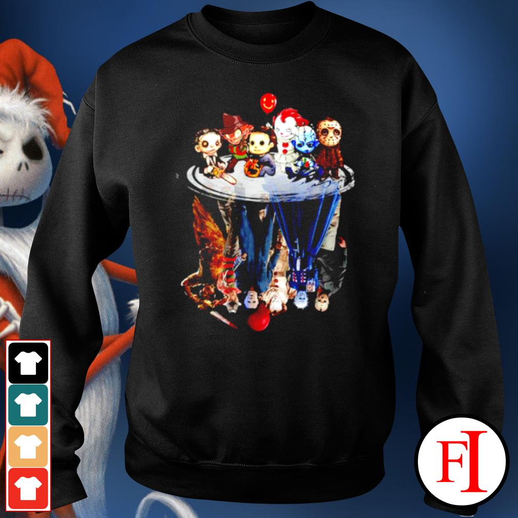 Horror characters movies water mirror reflection halloween s sweater