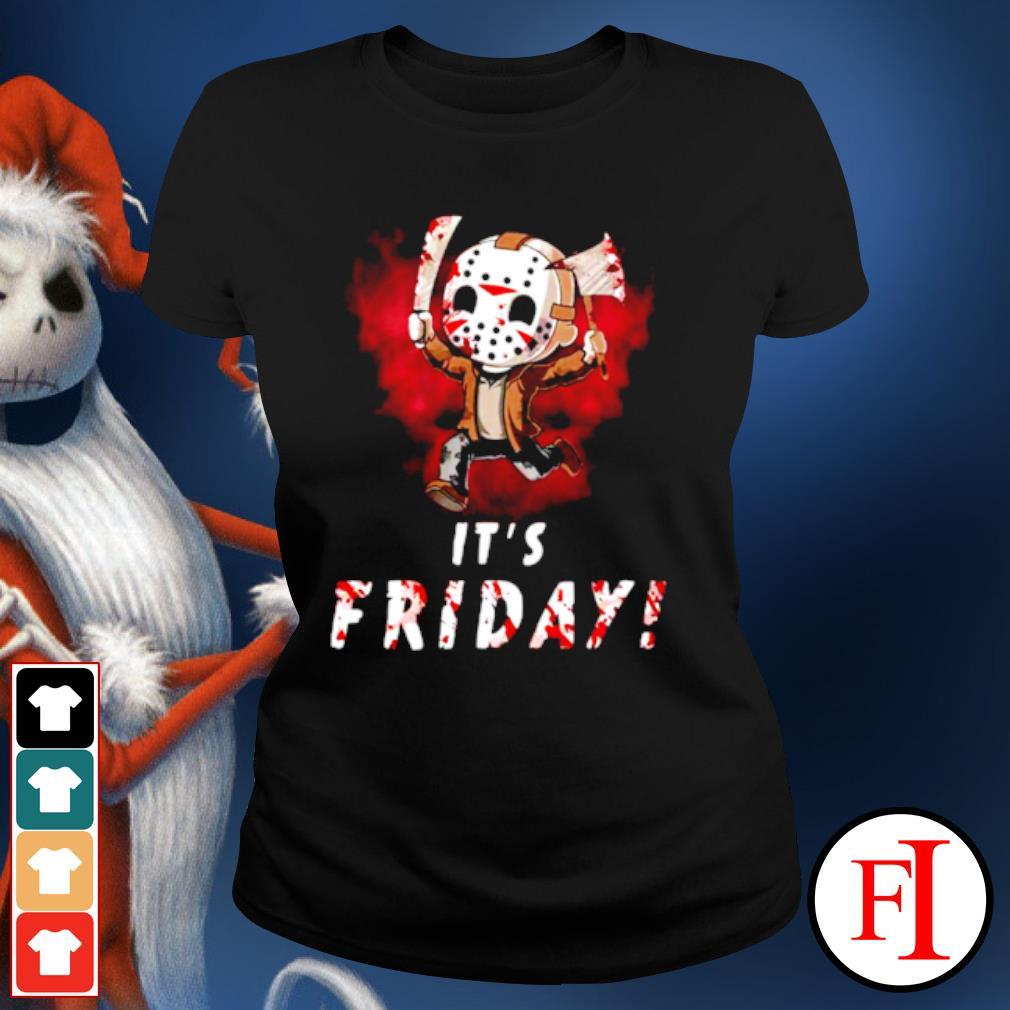 Jason Voorhees chibi It's Friday Halloween s ladies-tee