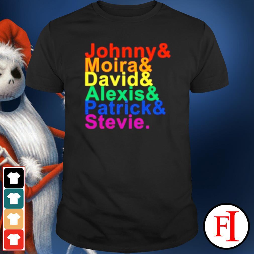 Johnny Moira David Alexis Patrick Stevie T shirt