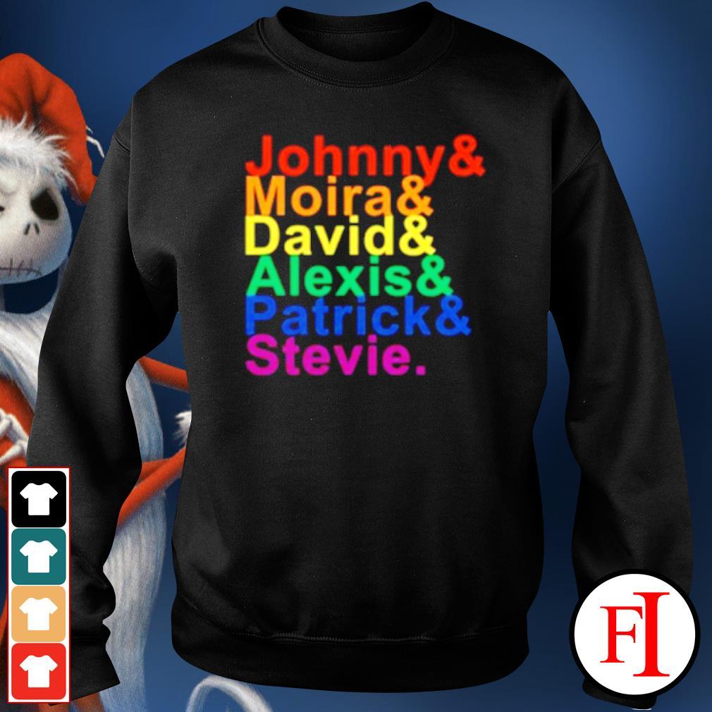 Johnny Moira David Alexis Patrick Stevie T s sweater