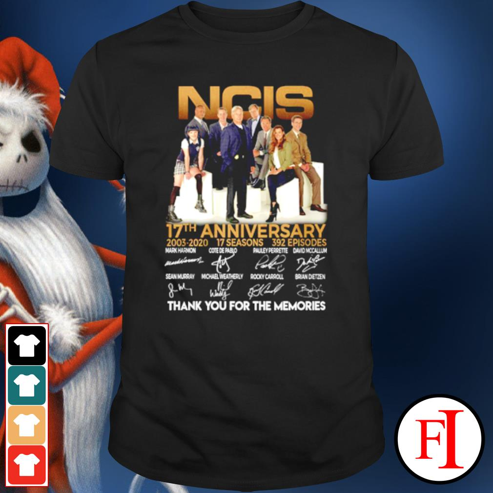 NCIS 17th anniversary 2003 2020 thank you for the memories shirt
