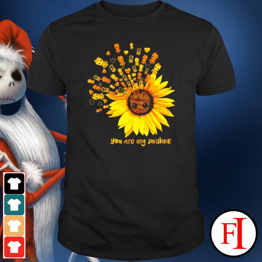 Sunflower Baby Groot you are my sunshine shirt